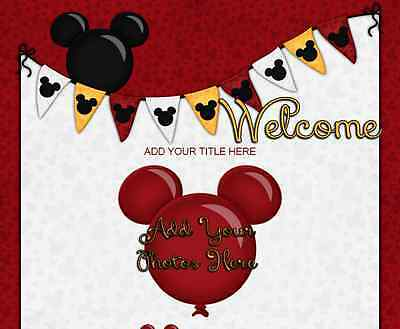 DISNEY VACATION eBay Listing Auction Template Mickey