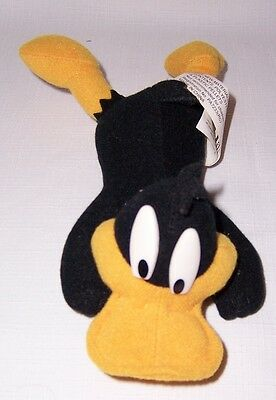 """Looney Tunes Daffy Duck Plush 8"""" Laying Down on his Tummy with Beans"""