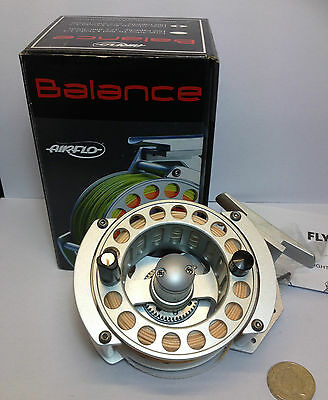 Unused, Boxed Airflo Balance 57 5/7# trout fly fishing reel with New line