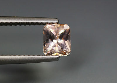 0.71 Cts_Amazing !!! Gem-Miracle Collection_Natural Peach Pink Morganite_Brazil