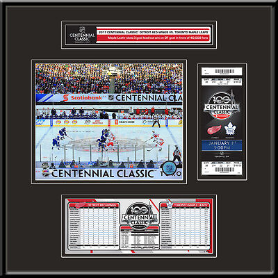 2017 NHL Centennial Classic Ticket Frame Jr - Red Wings vs Maple Leafs