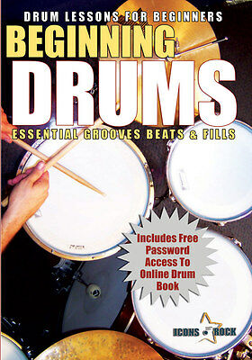 DRUM LESSONS FOR BEGINNERS Drumming Rhythm Percussion NEW DVD FREE USA SHIP