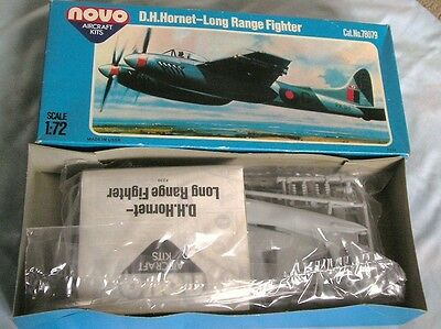 Old Novo Air Kits 'd.h. Hornet Long Range Fighter' 1/72 Scale Boxed