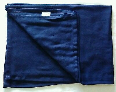 """CONTINENTAL AIRLINES Blanket Inflight Plane Navy Throw 2010 59"""" X 39"""""""
