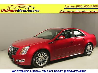 2012 Cadillac CTS  2012 CADILLAC CTS PREMIUM COLLECTION NAV PANO LEATHER HEAT/COOL SEATS RCAM RED