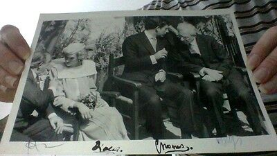Autograph, Princess Diana, Charles, Cossiga, Handsigned, 11x7,9 inch!