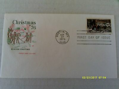 "FDC House of Farnam #1702 ""Winter Pastime"" overall tagged unaddressed"