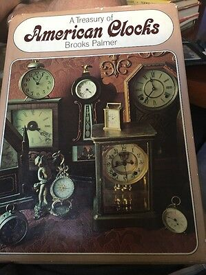 a treasury of american clocks signed by brooks palmer 1967 First Printing