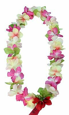 Hawaiian Lei Party Luau Floral Princess Plumeria Silk Dance Flower Pink