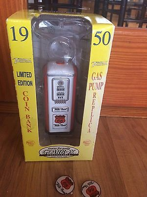 Gearbox 1950 Tokheim Phillips Gas Pump Coin Bank In Original Box