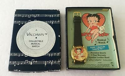 Betty Boop Musical Watch Black Mint Box 1995 Valdawn I Want to be Loved By You!