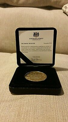 Rare 2012 Olympic Commerative Medal & Prime Minister (David Cameron) Note