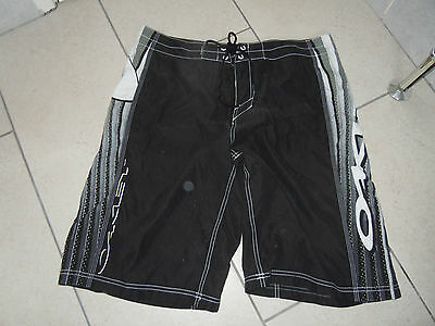 OAKLEY Black, Grey and White Martial Arts Shorts Size 38