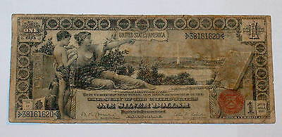 1896 Large Size EDUCATIONAL $1 One Dollar Note U.S. Currency