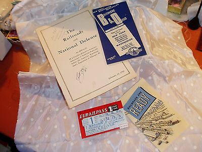 Vintage / Antique Railroad Train Booklets, Eurail Pass 1977