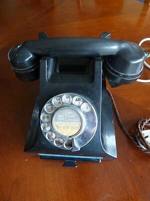 GPO 332L Vintage Bakelite Telephone with drawer