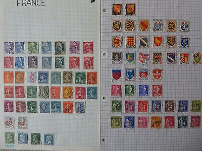France collection of 86 stamps on  2 pages
