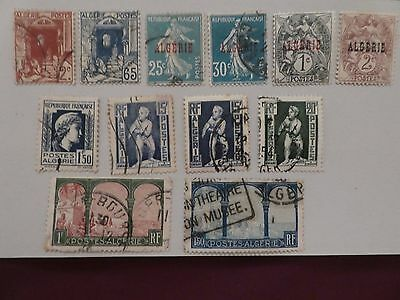 Algeria collection of 12 stamps