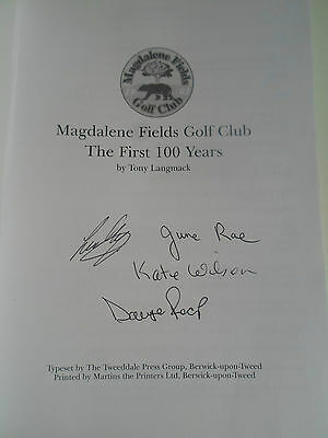 RARE Magdalene Fields Golf Club The First 100 Years by Tony Langmack+Illustrated