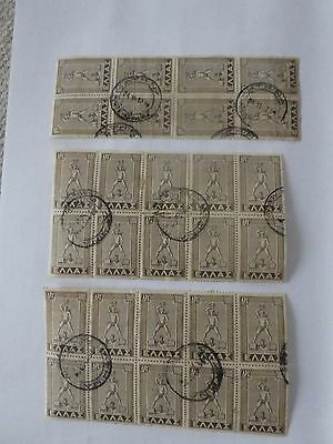 Greece 3 blocks of used stamps