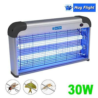 30W UV Electric Insect Fly Killer Zapper Pest Remover Flying 2x15W Restaurant