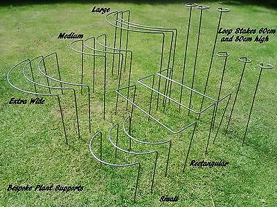 Metal Plant Supports and Stakes- various sizes/designs