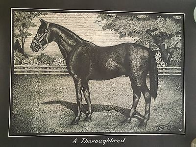 """A Thoroughbred Horse Print Poster Thoroughbred Racing Wall Hanging 18"""" X 24"""""""