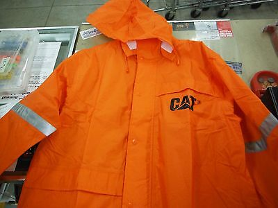 Caterpillar Rain Jacket,Hi-Vis Orange, med, lg, xl, 2xl, breathable
