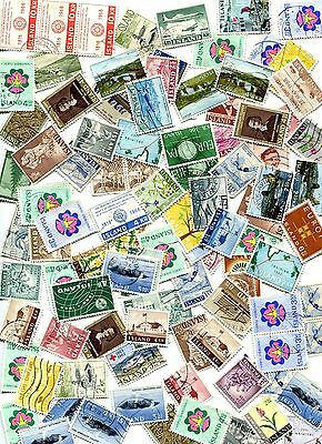 Iceland Lot of 100 Mix Cancelled Stamps  # 051
