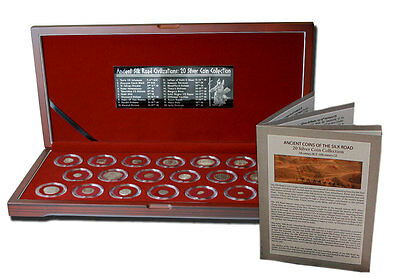 Ancient SILVER Coins of the Silk Road: Box of 20 of the Famed Silk Road w/ COA