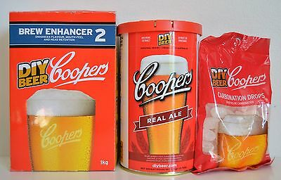 Coopers Real Ale 1.7kg Brewing Extract DIY Beer Kit Refills 23L Brew Enhancer 2