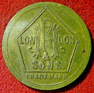 Rh & Sons Twopenny Barbers Token South Africa, Australia, Nz, British Colonies