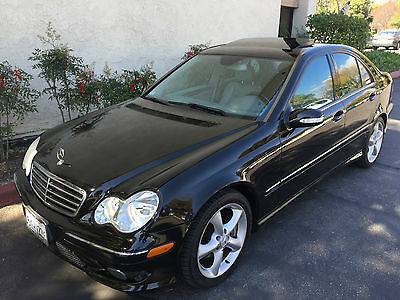 2005 Mercedes-Benz C-Class Kompressor Sedan 4-Door OUTHERN CALIFORNIA DING DENT CORROSION FREE BLACK W/ DOVE GRAY INTERIOR SWEET