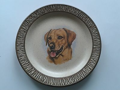 Purbeck Pottery Display Plate Dog