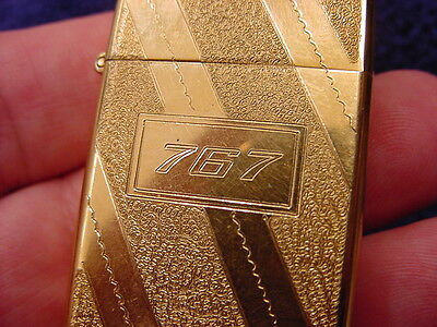 """1979 ZIPPO - ENGRAVED """"767"""" FOR BOEING EMPLOYEES WORKING ON 1st PROTOTYPE PLANE"""