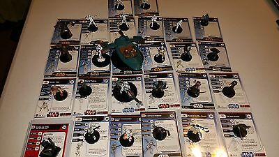 Star Wars Miniatures Republic Lot Dark Woman, Speeder, Cody, Panaka, Vos, Vebb +