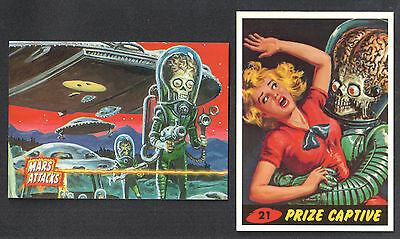 MARS ATTACKS! TOPPS 1993 Special 2-Card PROMO SET for COMIC SERIES #A & #B