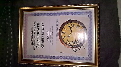 Oasis Signed By Both Liam And Noel Cd Cover Framed Coa