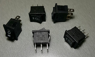 KCD1-106-D ON-OFF-ON ROCKER SWITCH SPDT 6A 250V Pack of 5