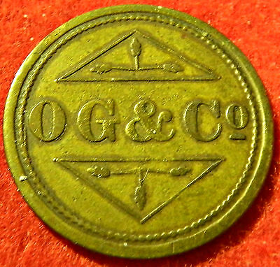 O G & Co 1Shilling Barbers Token  South Africa,australia, British Colonies