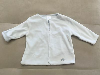 New Kissy Kissy Baby Boy Thick Soft Blue Sweater Cardigan Size 9-12 Month