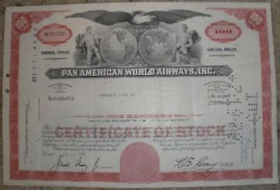 Cancelled Pan Am Stock Certificate  EPH-0101