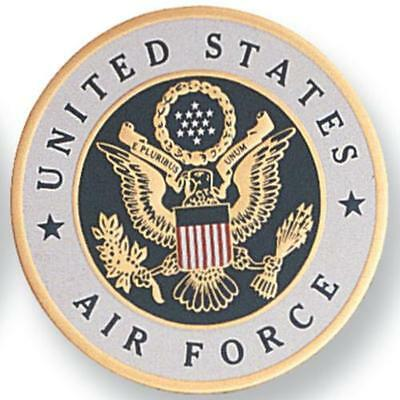 """MEDALLION INSERT United States Air Force, 4"""", Embossed, Adhesive Backed EMB-0102"""