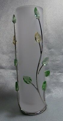 "Swarovski Crystal  ""leaves Vase Small""  719502  Mint In Box  2006 Now Retired"