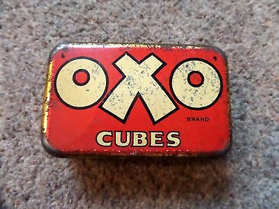 VINTAGE  6 CUBE  OXO TIN 1950s THE COOKS BEST FRIEND