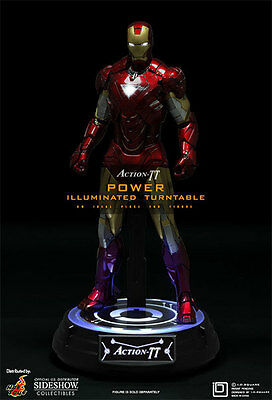 Hot Toys Action-Tt Power Illuminated Turntable 1:6 Scale Figure Stand ~New~