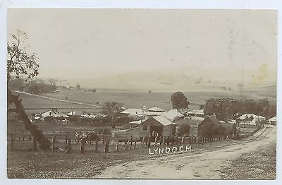 C.1908 Rp Npu Postcard Township Lyndoch Barossa Valley Dirt Roads S.a. B97
