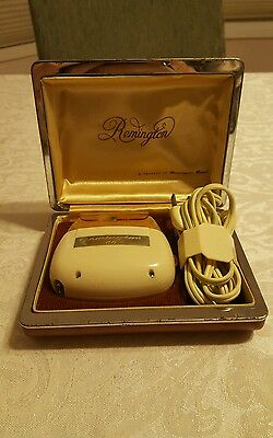Vintage 1950's era Remington 60 Deluxe Electric Shaver~w/Carry Case AS IS PARTS