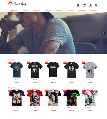 T Shirt Turnkey Ready Made Drop Ship Business Website FREE LIFETIME WEB HOSTING