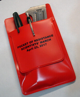 Pocket Of Resistance! Red Pocket Protector For Scientists' March  4/22/17